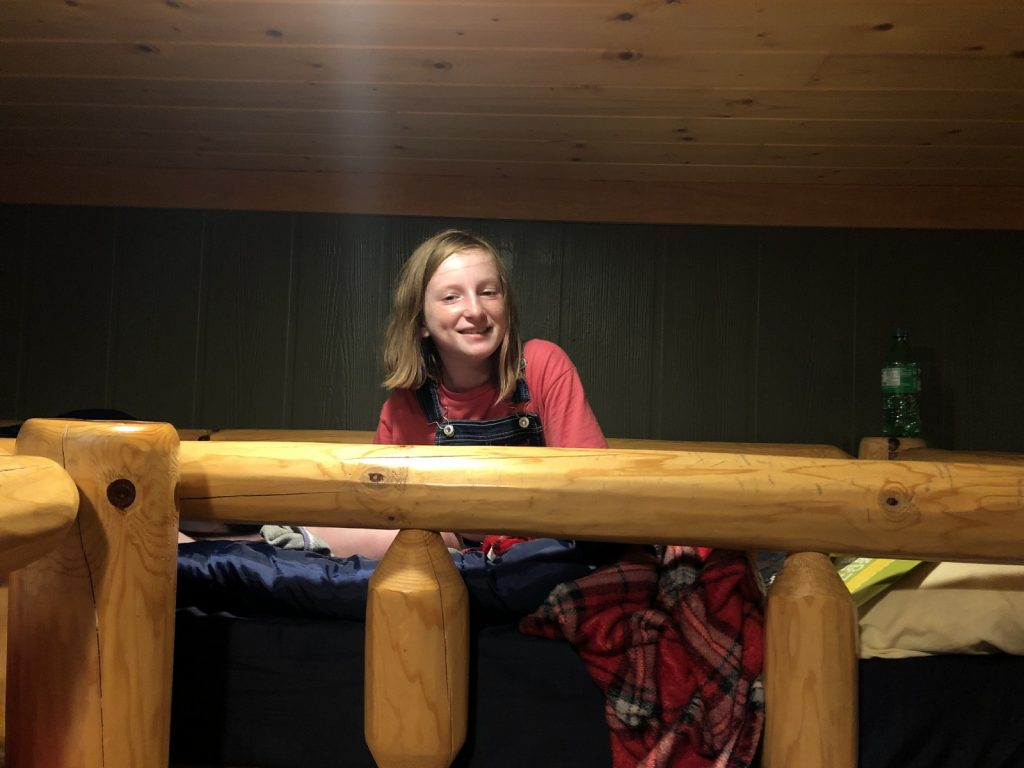 Bible Study time in the bunks